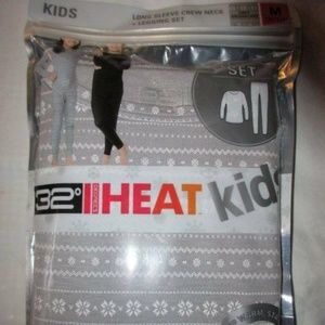 KIDS 32 Degree Heat L/S Crew Neck + Legging Set